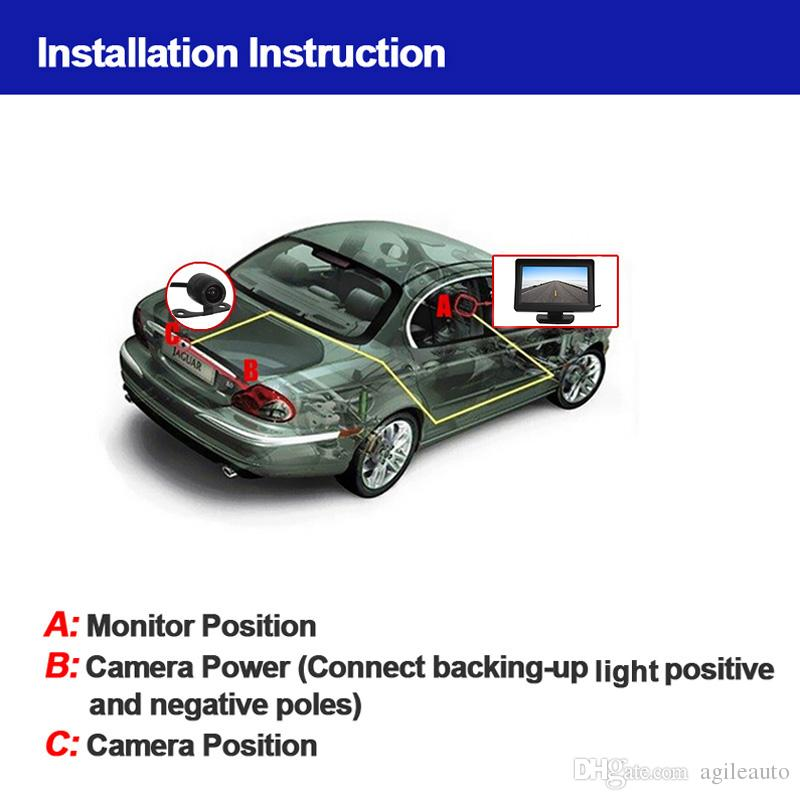 4.3 inch TFT LCD 480 x 272 Car Rearview Monitor + Waterproof 420 TV Lines CCD Backup Parking Camera CMO_50K