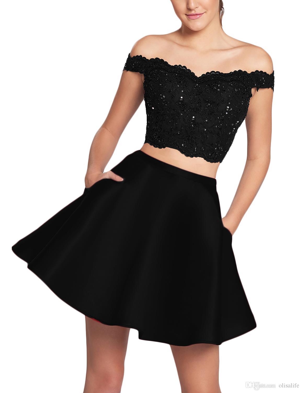 Vestidos de encaje en color negro