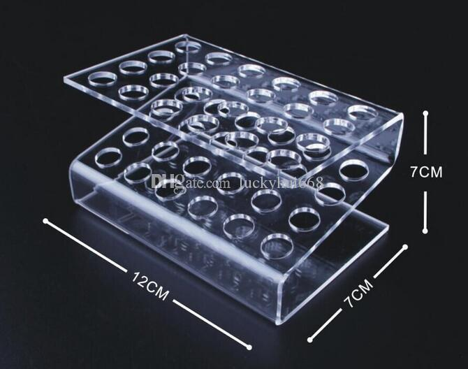 Hot sale Acrylic Pen Holder Cosmetic Brush Eyeshadow Pencil color Pen Lipstick Display Stand Rack Cosmet Support Holder Crystal pencil shelf