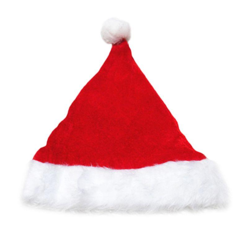 f86e4209552 Compre Sombrero Adulto De Pleuche Velvet Christmas Santa Claus Con Adorno  De Felpa Espesar Confort Liner Fiesta Clásica Traje De Navidad Topper Bean  A ...