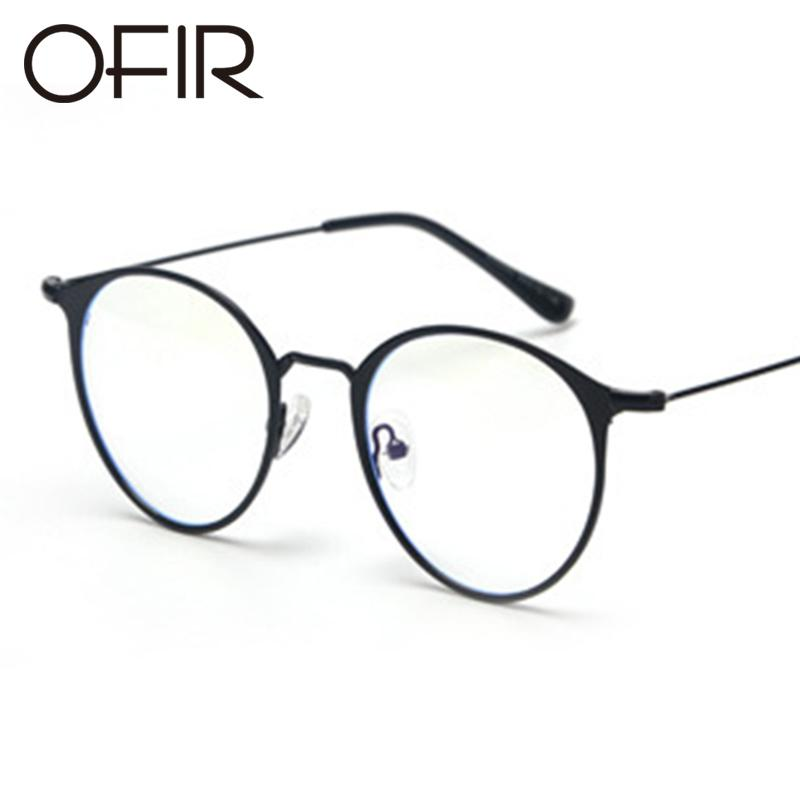 74b35239c195c 2019 OFIR 2017 Flat Glasses Round Flat Metal Frame Korean Glasses Brand  Clothing Designer Unisex Can Equipped With Myopic From Htiancai