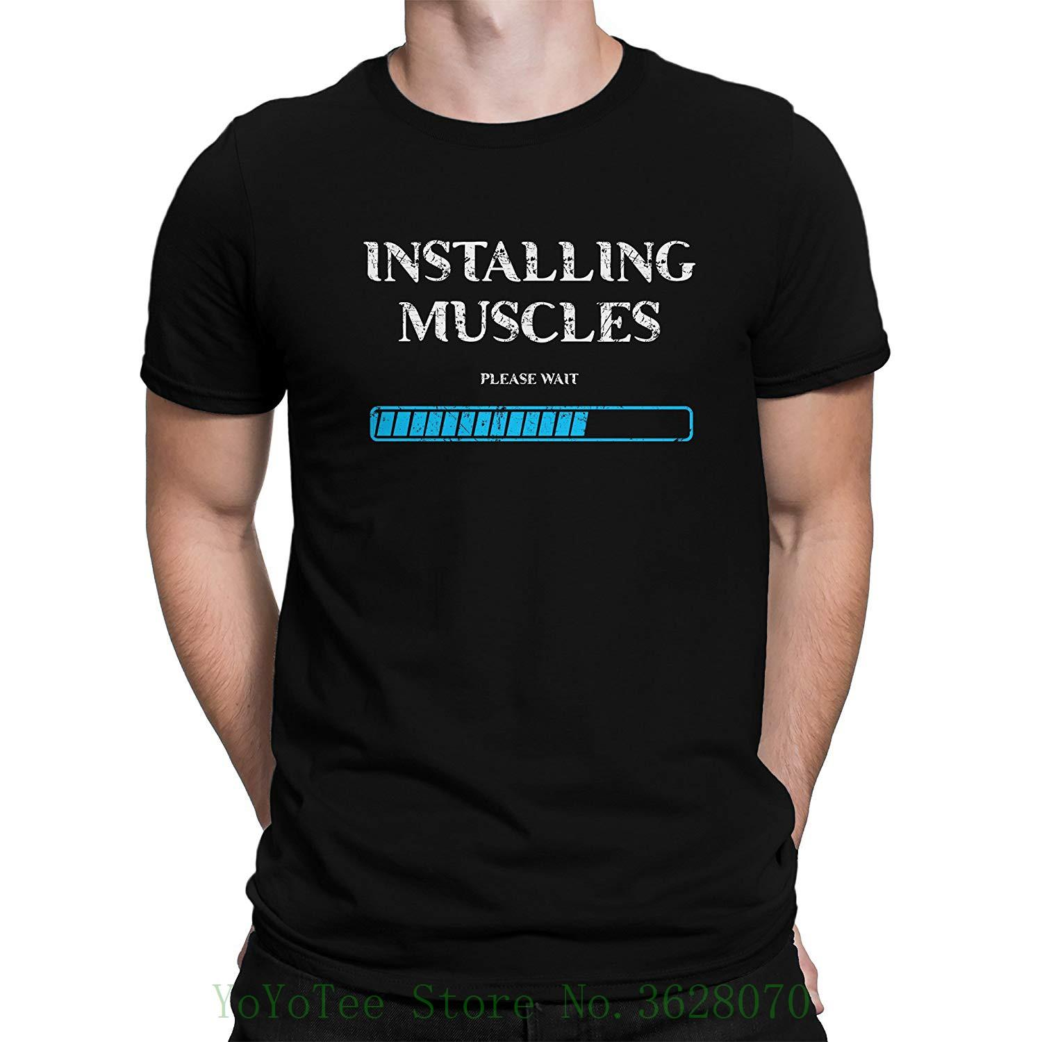 c76ad12f Installing Muscles Loading Gymnasium Motivation Men'S T Shirt New Men  Summer Tops Casuals Shirts Best Sites For T Shirts Tee Shirt Deals From  Yoyoteestore, ...