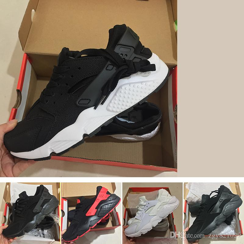 wholesale dealer 9f90e 53644 Acquista 2018 Nike Air Huarache Sneakers Run Scarpe Da Corsa Nero Bianco Huaraches  Scarpe Da Ginnastica Ultra Traspiranti Uomini E Donne Huaraches ...