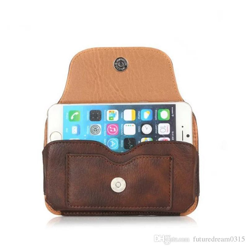 Leather Cell Phone Case For iphone X 8plus/7plus 8/7 6 For Samsung S9 S9PLUS/8765 BagCase Cover