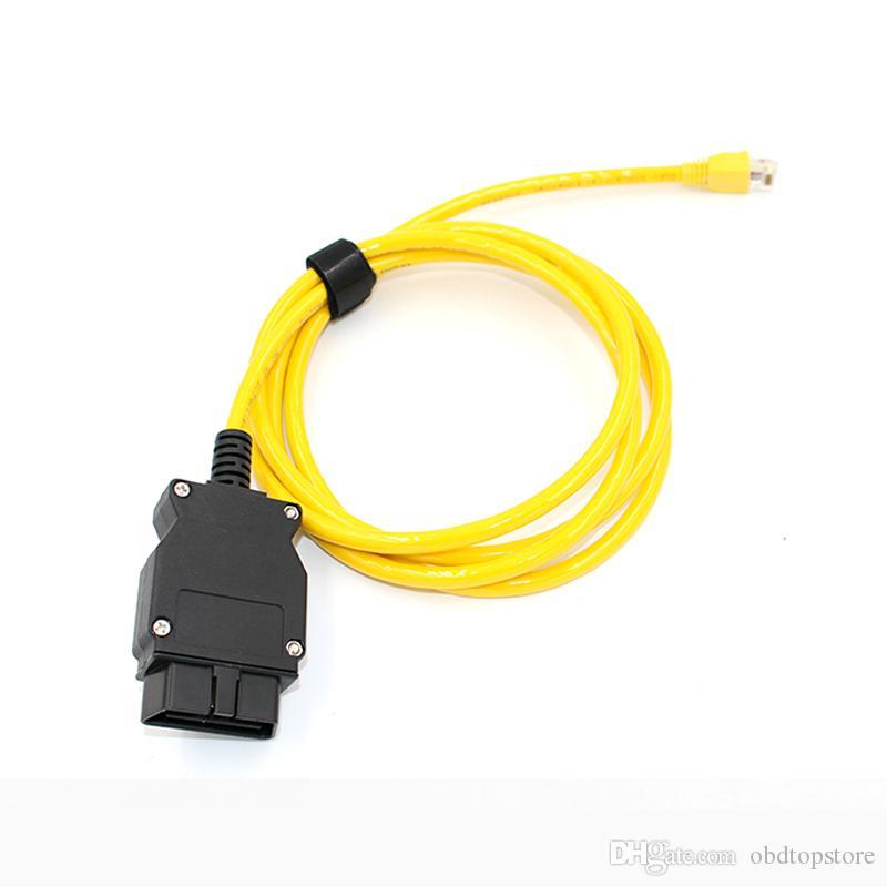 Novo ESYS 3.23.4 Cabo de Dados V50.3 Para bmw ENET cabo Ethernet para OBD2 Interface de Dados E-SYS ICOM Codificação para F-serie DHL
