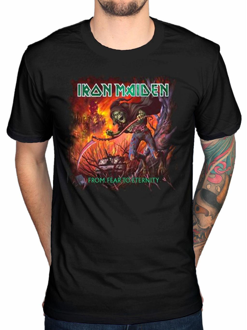 0d2163fa Official Iron Maiden From Fear To Eternity Album T Shirt Final Frontier  Virtual Tee Shirt Of The Day Link Shirts From Shadowtshirt, $13.19   DHgate.Com