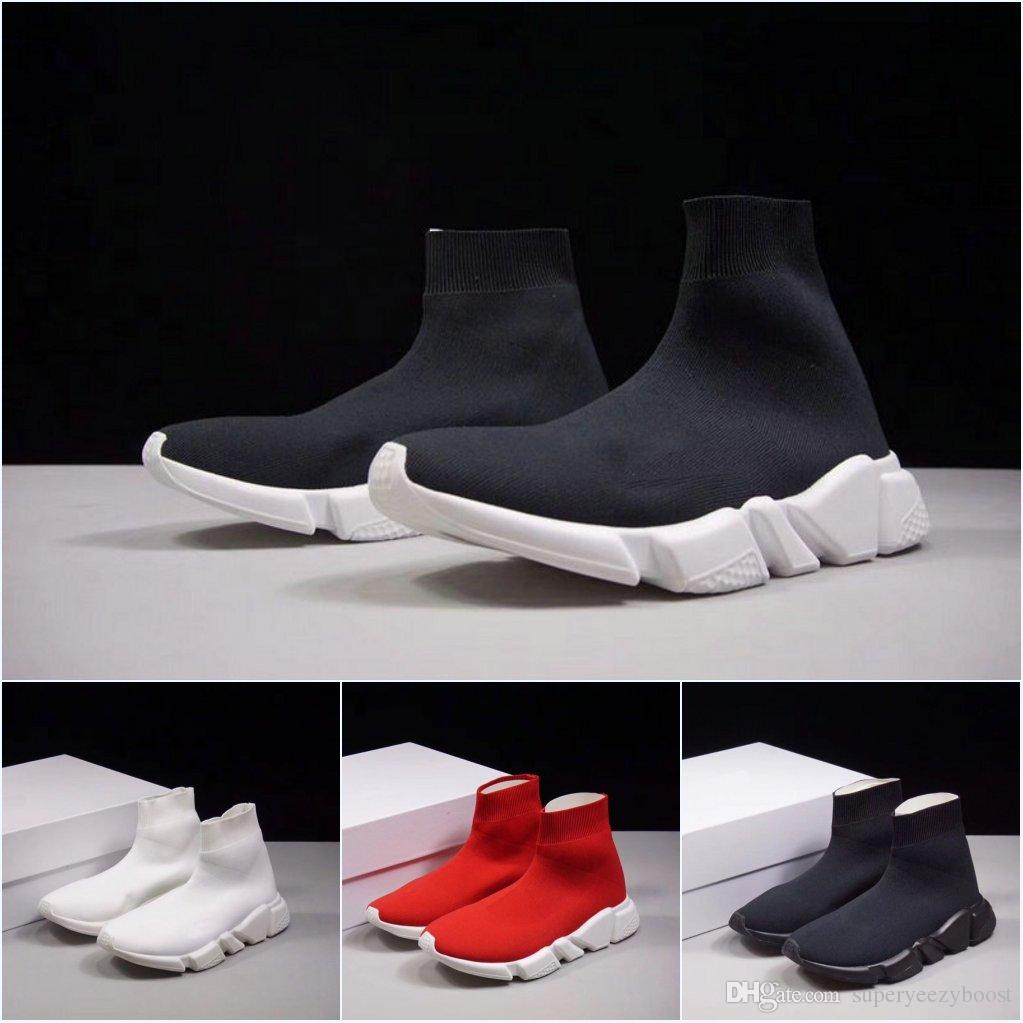 2018 luxury Speed Trainer Sock Shoes With box High Quality Sneakers Socks Race Runners black casual Shoes men and women Sports Shoes best prices cheap price 2BBcQp