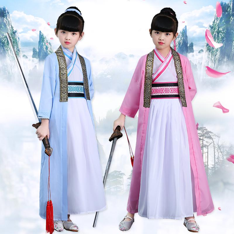74535df64 2019 Hanfu National Costume Ancient Chinese Fairy Cosplay Costumes Hanfu  Children Girls Traditional Chinese Clothing For Stage Dress From Qingchung,  ...