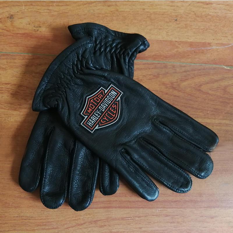 e7bd4e48f4fb7c Großhandel Echtes Leder Harley Voller Finger Motorrad Handschuhe Mann Frau  Moto Racing Atmungsaktiv Tragbare Sommer Motorrad Schwarze Handschuhe Von  Cujuflo ...