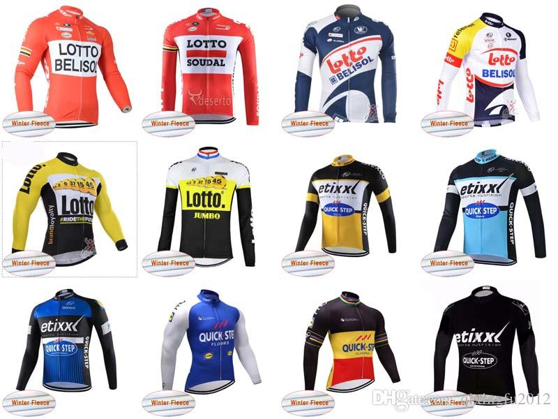 Fast Winter Warmup Only Bike Jacket Clothing Long-sleeved Shirt L0TTO QUICK  STEP 2018 Quick Step Professional Team C2010 L0TTO QUICK Cycling Jersey Mtb  ... 896be773f