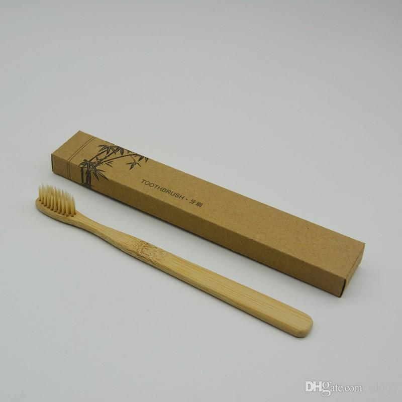 الخيزران فرشاة الأسنان فرشاة الأسنان ولي العهد بيئيا فرشاة الأسنان الناعمة نايلون العضد لفندق الأسنان الأنظف السفر 1 2ym B
