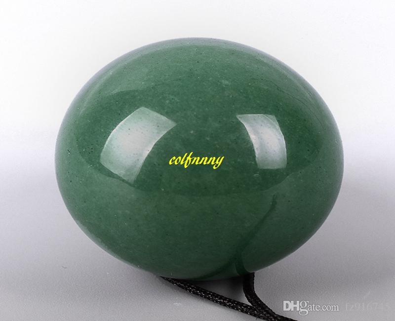 3 قطع الأخضر افينتورين اليشم البيض الطبيعي ل كيجل بممارسة الحوض الطابق العضلات المتمرن حفر يوني البيض بن وا الكرة