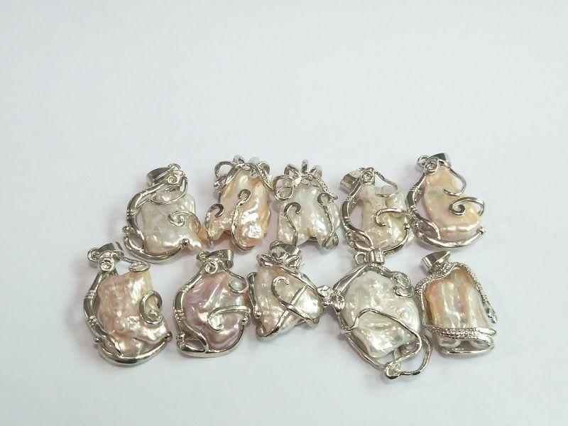 Perla colgantes, collar de la joyería de las mujeres 2018 nuevo diseño de DIY perlas sueltas irregulares Oyster Pearl barroco de la manera al por mayor envío gratuito