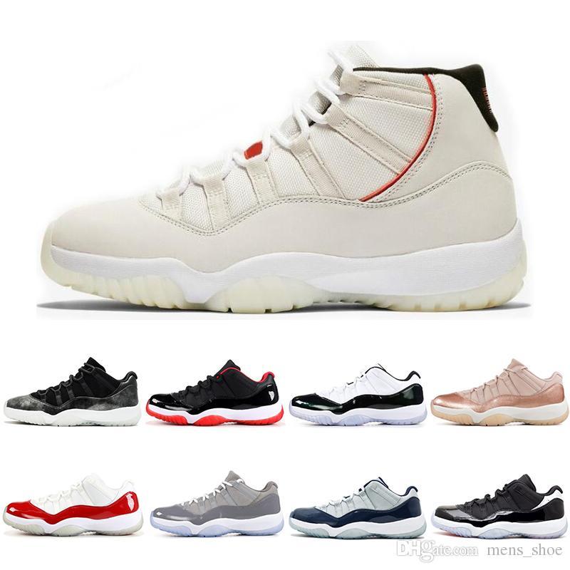 675028cb981 Compre Nova 11 S Mens Tênis De Basquete Platina Matiz CAP E VESTIDO Concord  45 ROSE GOLD 11 Homens Mulheres Sapatilha Sapatos Esportivos De Mens shoe