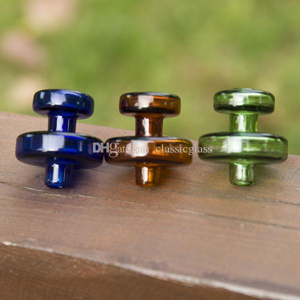 Tampão de vidro colorido do carburador para o prego do vagabundo de quartzo OD 30mm Bongos de vidro de vidro de Dab das tubulações de água do vidro de Dab