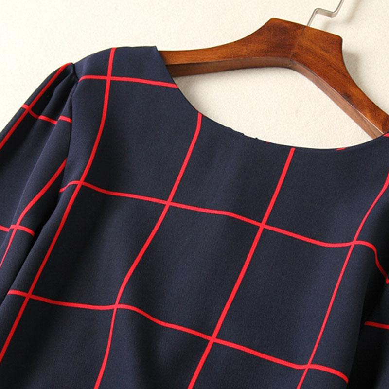 Novo O-pescoço Blusas de Manga Longa Impressão Camisa das mulheres Escritório Feminino Tops Elegantes 2017 Plus Size Outono Inverno Blusa Ocasional SY2083