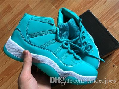 buy popular 5f39e b6a31 2018 With Box Women Basketball Shoe 11S Emerald Chris Paul PE Mint Green  Gym Sneakers Sports Shoes for Women Size US5.5-8.5