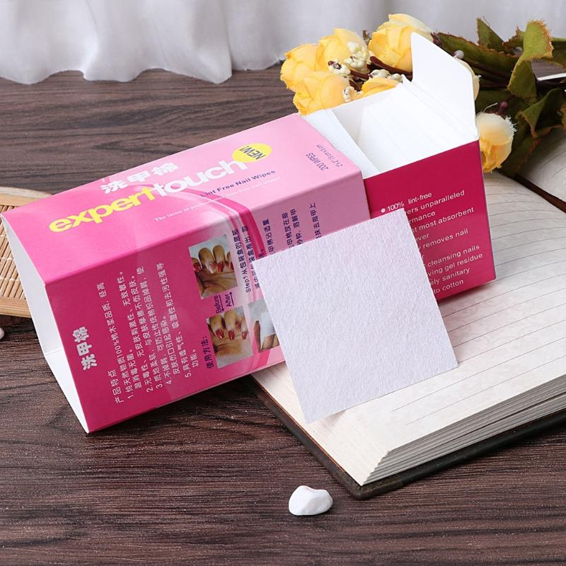Box Nail Art Gel Polish Remover Paper Removal Wraps Non Woven Pad