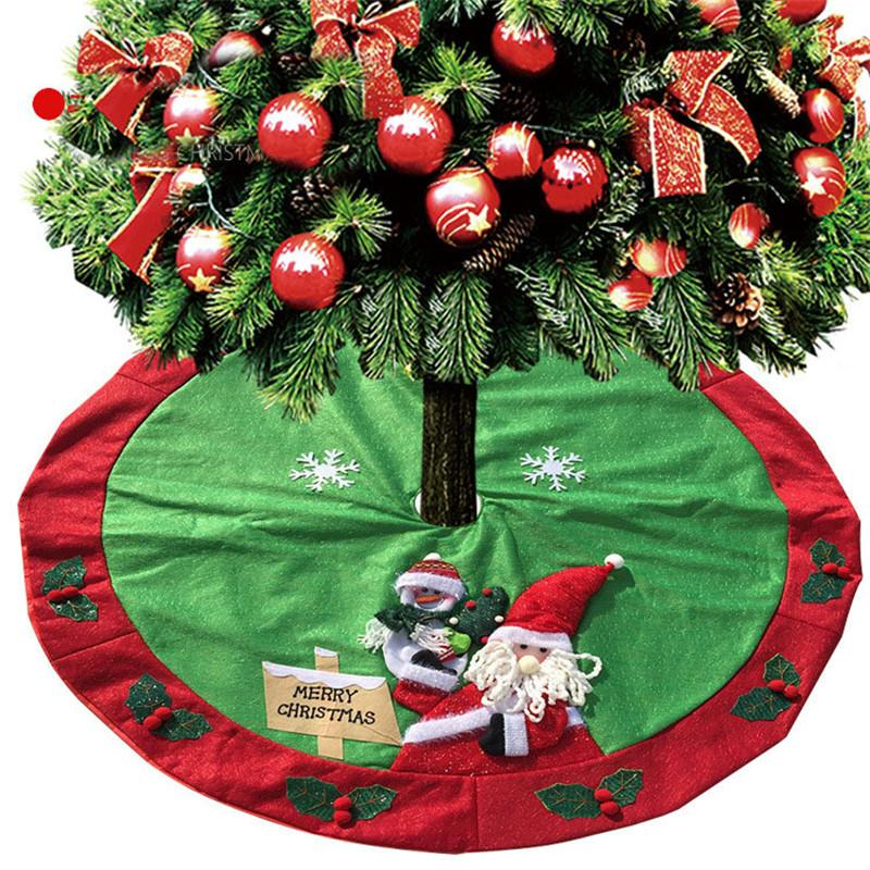 Haochu Christmas Tree Skirts Items Xmas New Year Diy Circular Cloth