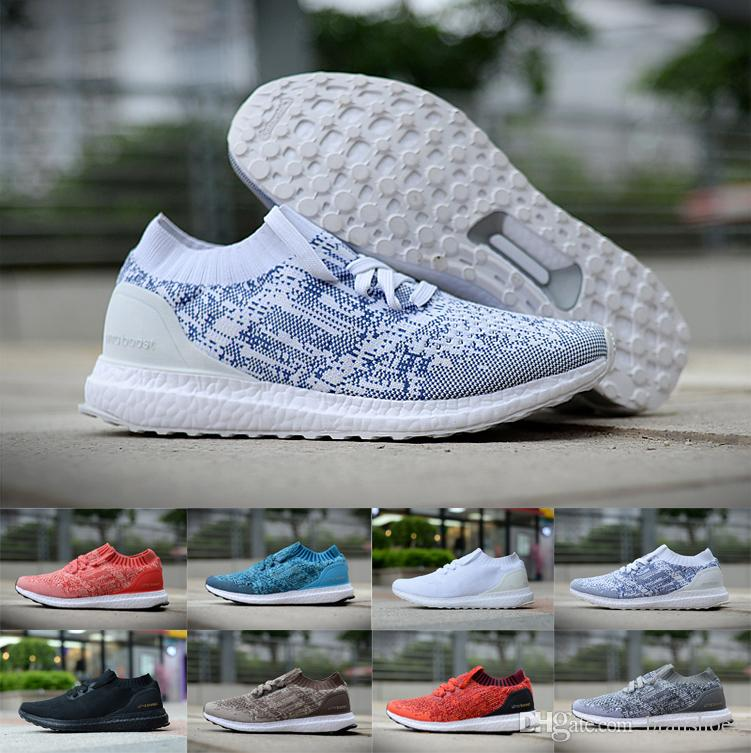 New Fashion Designers Ultra Boosts Uncaged Running Shoes Black White Red  Men Women Best Quality Real UltraBoosts Sport Sneakers Shoe Shop Mens Sale  From ... d223658197