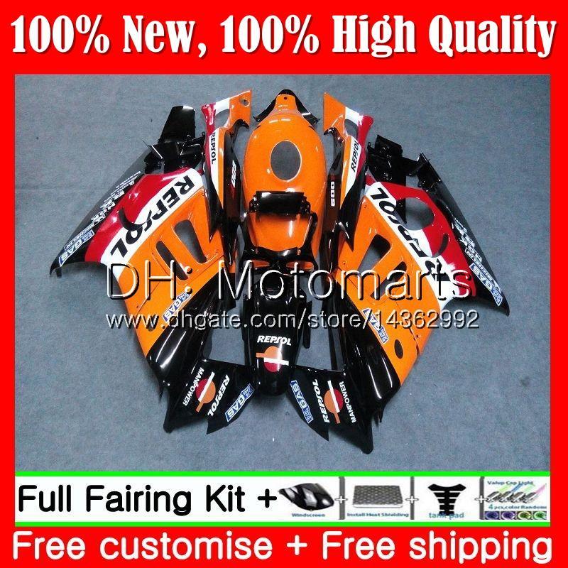 Cuerpo para HONDA CBR600 F3 CBR600RR F3 CBR600FS 95 96 47MT17 CBR 600F3 FS CBR600F3 CBR 600 F3 1995 1996 Fairing Carrocería Repsol naranja kit