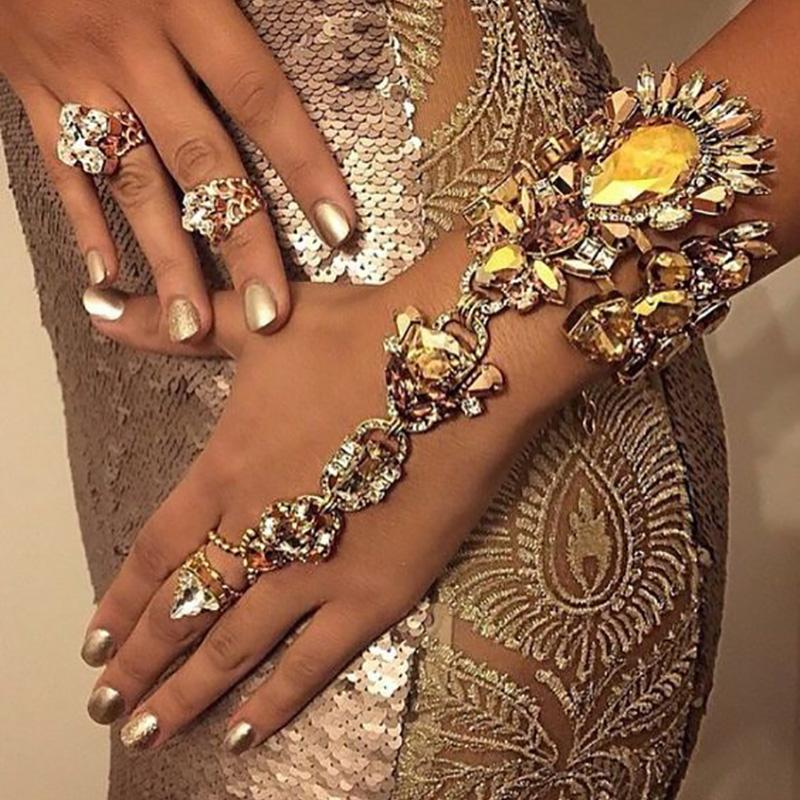 2017 Hot Sale Boho Crystal Bracelet Sexy Pie Leg Chain Crystal Bohemian Gypsy Girls Bracelet & Bangles statement Fashion Jewelry