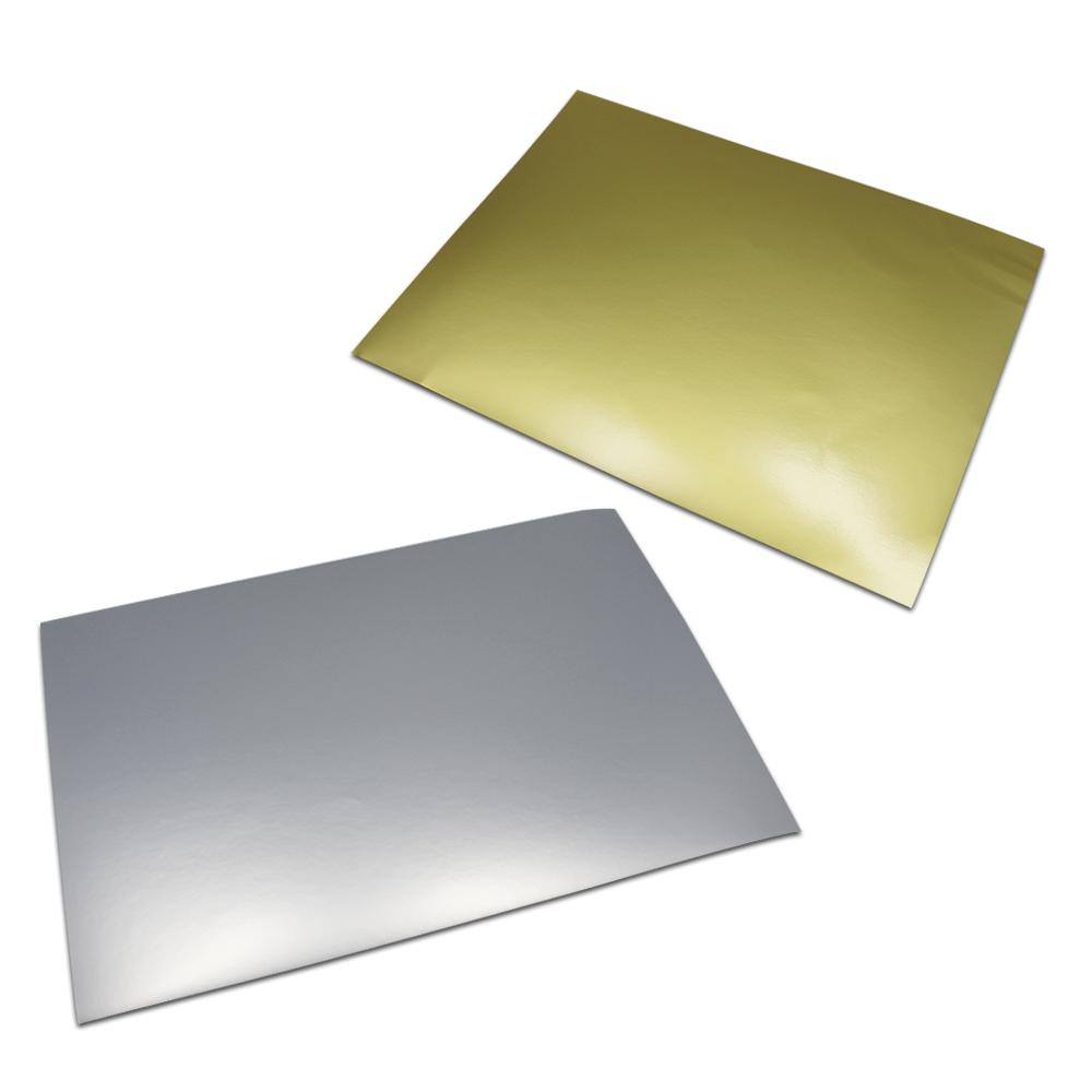 Matte Golden Silver A4 Sheet Self Adhesive Aluminum Foil Printing