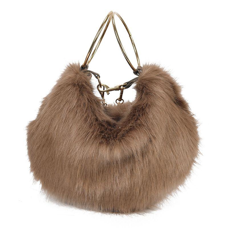 2b2ef829f77a Women Bag Female Handbags Leather Fur Chain Shoulder Bag Crossbody Famous  Brand Fashion Cite Ladies Hot Sale Girl Brand Handbag Leather Handbags  Handbags On ...