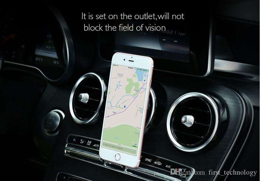 Hot Universal Magnet Phone Car Holder For iPhone 6 6s 7 Plus Air Vent Mount Magnetic Phone Stand GPS Bracket Car Holder