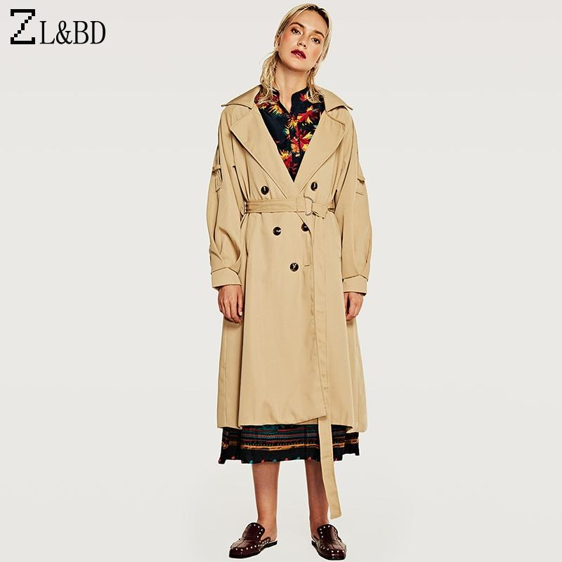 e88b69f248702 Satın Al ZLBD İngiliz Tarzı Zarif Kruvaze Ince Siper Ile Kemer Kadınlar  Sonbahar Sonbahar Uzun Trençkot Dış Giyim Rüzgarlık ZA844, $66.21 |  DHgate.Com'da