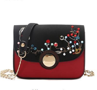 Crossbody Taschen für Frauen PU Leder Mode Kette Messenger Schulter Nähte farbige Nieten Mädchen Designer Lady Handtasche