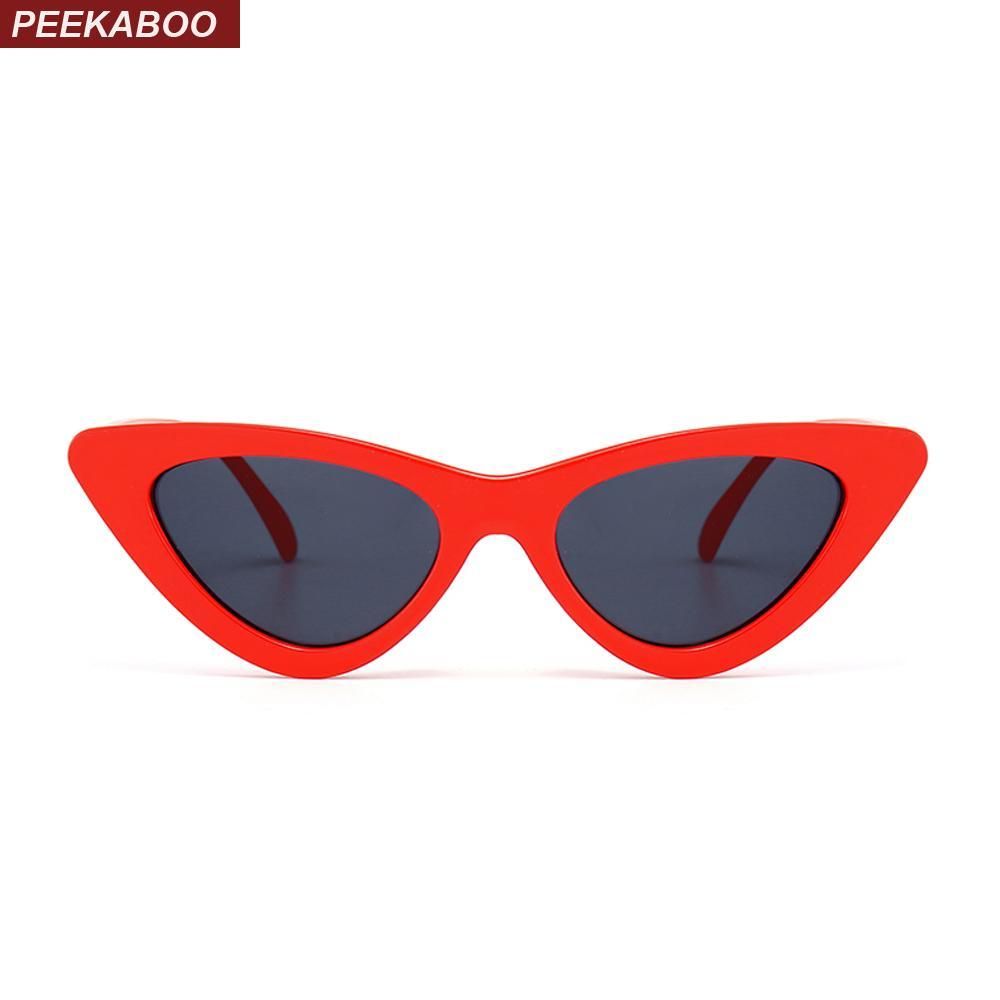 Compre Peekaboo Lindo Sexy Retro Ojo De Gato Gafas De Sol Mujeres Negro  Blanco 2018 Triángulo Vintage Barato Gafas De Sol Rojo Femenino Uv400 A   22.04 Del ... 10a33a7d0dff