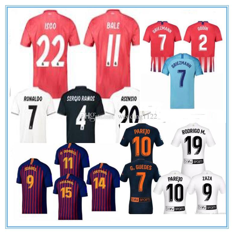 Nueva Calidad De Tailandia 2018 2019 Camiseta Del Fútbol Del Real Madrid  MODRIC Marcelo ASENSIO ISCO RAMOS Campeones De La Liga Local Tercera  Camiseta Por ... 9c35203bfd0ff