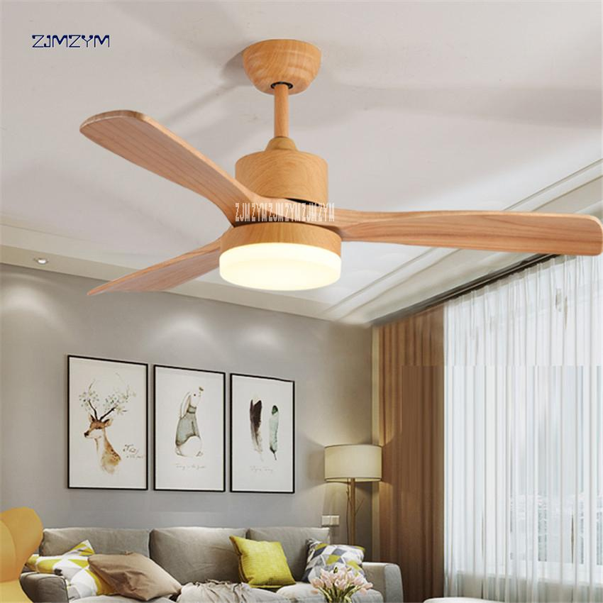 2019 48 Inch Nordic Wood Ceiling Fan Lights With Remote Control
