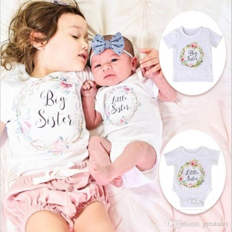 77c23fa19 Fashion New Trendy Newborn Kids Baby White Matching Clothes Print ...