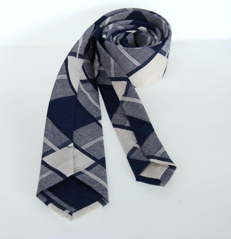 Student Stropdas Unisex 6 cm Vrije Tijd Katoenen Ties voor Mannen Dames Dames Skinny Business Neck Tie Plaid Check Jacquard Red Tie