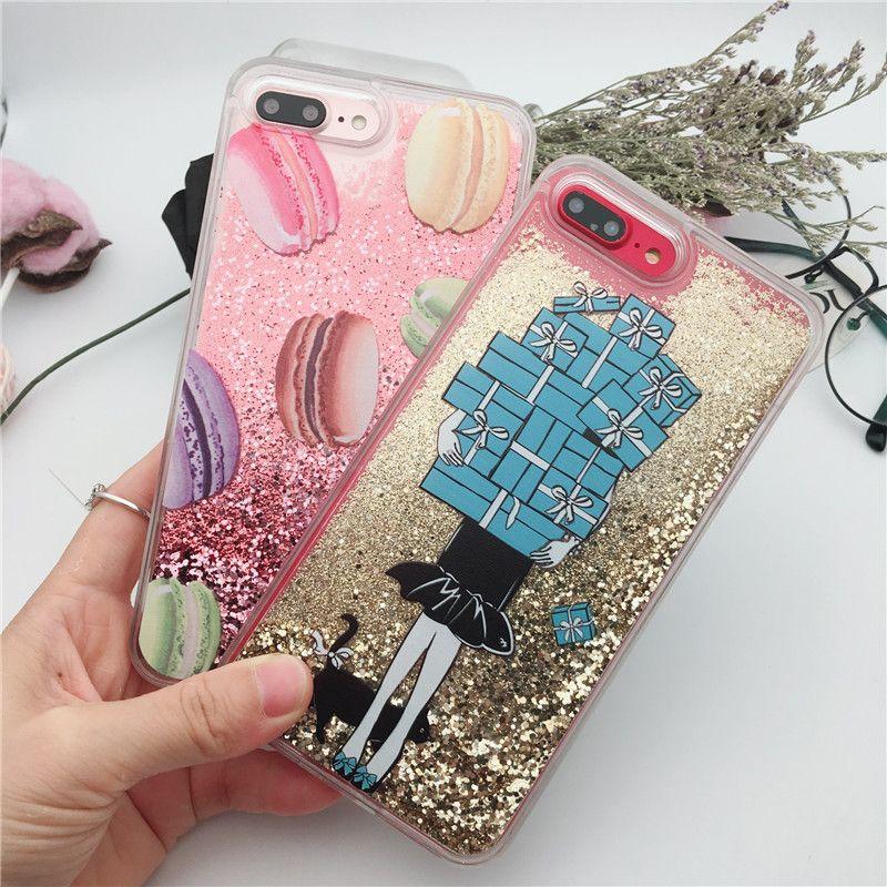 569cf852e Bling Liquid Quicksand Phone Case For IPhone 6 6s 7 8 Plus Shiny Sequin PC Glitter  Case Cover For IPhone X Phone Case Custom Phone Cases From Partnership