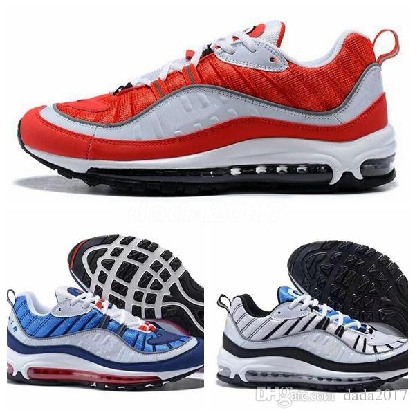 cheap choice 2018 11 The World Famous 98 OG Maxes White Blue Designer Sneakers Men's Casual Shoes Running Shoes Hight Quality Mens Women Shoes outlet ebay sale with mastercard get authentic online outlet 100% guaranteed PhaUJfQE