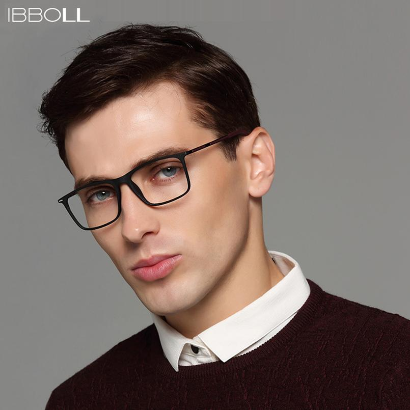 ac14575aed 2019 Ibboll Fashion Eye Glasses Frames For Men Square Optical Glasses Frame  Male Transparent Lens Eyewear Luxury Brand Oculos S6076 From Bojiban