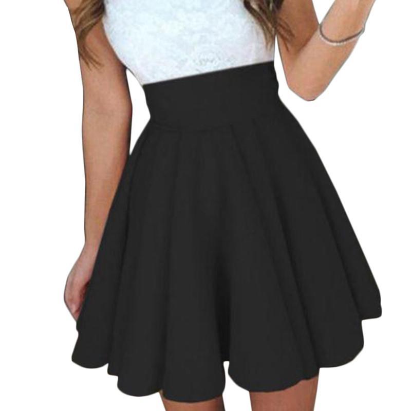 a33c99f65ebf9 Summer Women Pleated Skirts 2019 Students Women s Pleated Skirt ...