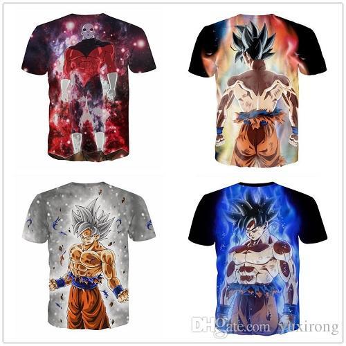 3D Imprimer T-shirt Dragon Goku Femmes Hommes Tee Anime Shirt Casual Tops à manches courtes