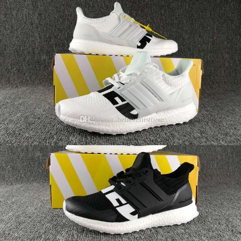 660f9b3dddc 2018 Undefeated X Ultraboost 3.0 4.0 Uncaged Running Shoes Men Women Ultra  Boost 4.0 IV Primeknit Runs White Black Sneakers Size 36 44 Womens Running  ...