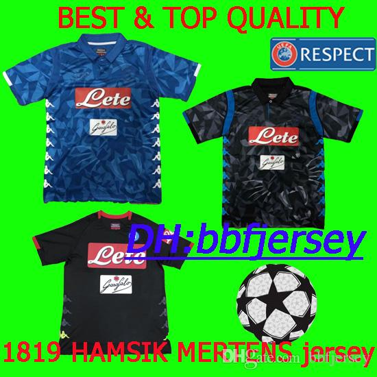 bb5fc34d7 Thailand Champions League Serie A 18 19 Naples Home Soccer Jerseys ...