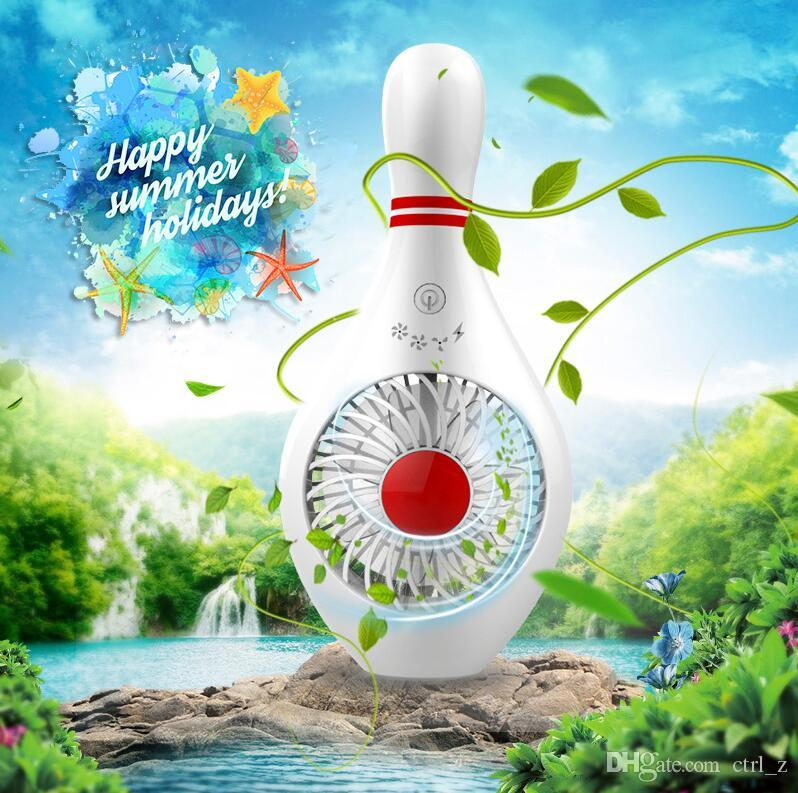 Summer Portable Rechargeable Air Cooler Mini Operated Hand Held USB Battery Cute Fan for PC Laptop Air USB Cartoon Fan