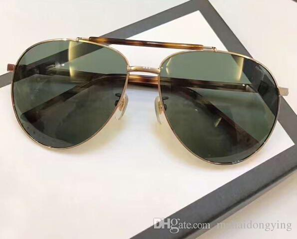 3ae800ee43 0455 Pilot Sunglasses Black Frame 59mm Sonnenbrille Luxury Brand Designer  Sunglasses For Mens Designer Glasses NUMCL180802 20 Glasses Frames Glasses  Online ...