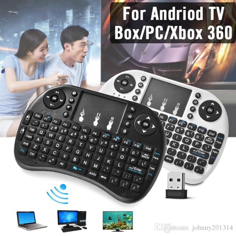 288aae38009 2018 New Mini I8 Wireless Keyboard 2.4G English Air Mouse Keyboard Remote  Control Touchpad For Smart Android TV Box Notebook Tablet Pc The Keyboard  Touch ...
