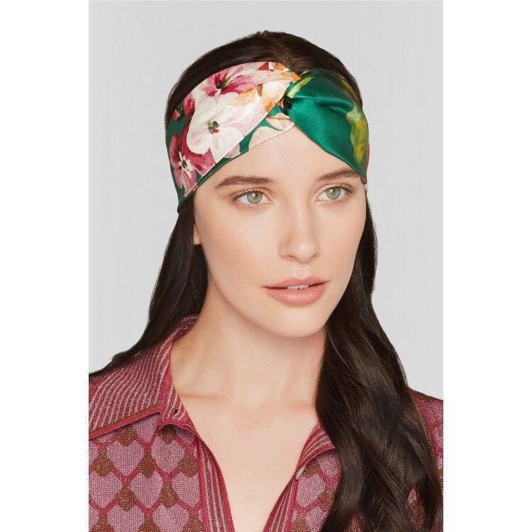 c4f5a4f8837 Retro Women Elastic Turban Twisted Knotted Headband Silk Flower Hair ...