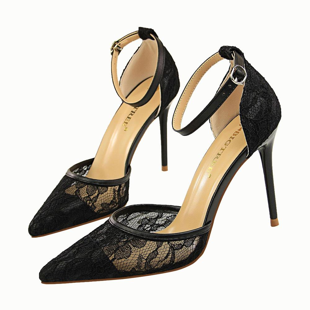 227c7beff030b5 Sexy Lace Sandals Lady Dress Shoes Women Heels Pointed Toe High Heels  Festival Party Wedding Shoes Formal Pumps Stiletto Heels GWS437 Lady Dress  Shoes Women ...