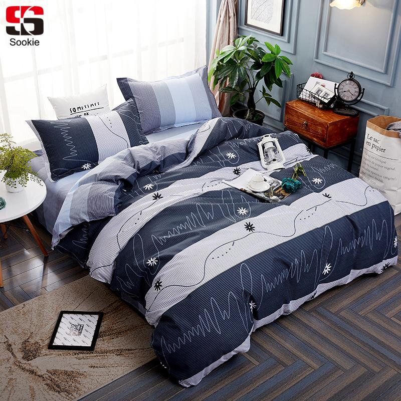 28f4495225cb Sookie Striped Bedding Set Modern Geometric Print Bedclothes Duvet Cover  Sets Twin Full Queen King Size Soft Bed Linen Comforters For Beds King Size  Duvet ...