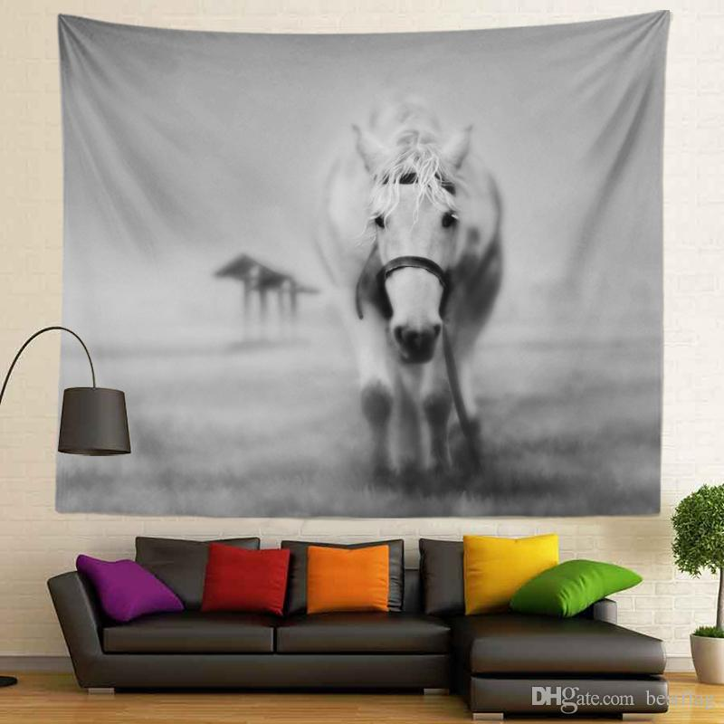 3D Animals Black and White Design Home Decoration Sublimation Printed Custom Size 130x150cm 400g Wall Hangings tapestry